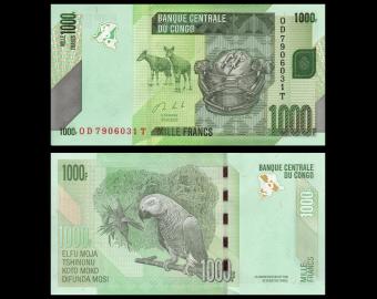 Congo, P-101c, 1 000 francs, 2020