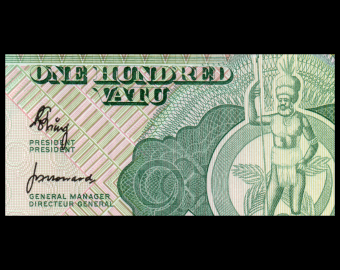 Vanuatu, P-01, 100 vatu, 1982