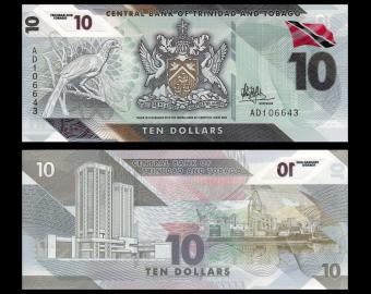 Trinidad & Tobago, P-62, 10 dollars, polymer, 2020