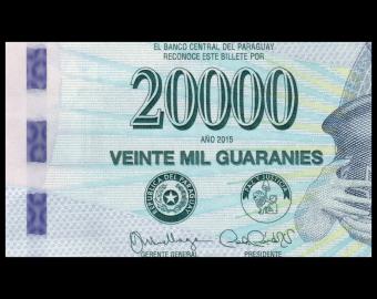 Paraguay, P-238a, 20.000 guaranies, 2015