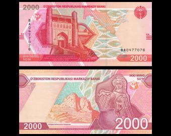 Ouzbékistan, P-new, 2.000 som, 2021