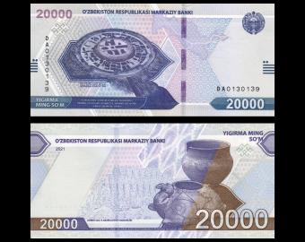 Uzbekistan, P-new, 20.000 som, 2021
