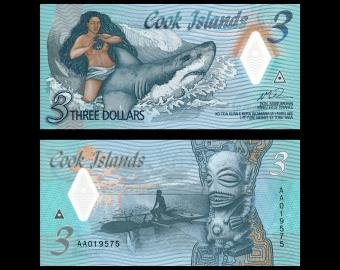 Cook Islands, P-11, 3 dollars, 2024