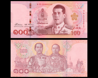 Thailand, P-137b3, 100 baht, 2018