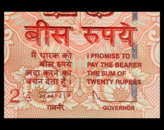 India, P-103e, 20 roupies, 2013