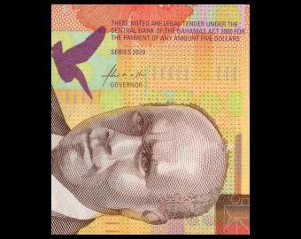 Bahamas, p-New, 5 dollars, 2020