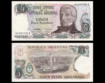 Argentina, P-312b, 5 pesos argentinos, 1983-84
