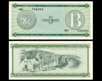 C, P-FX07, 5 pesos, 1985, PresqueNeuf / a-UNC