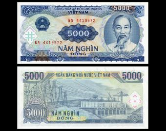 VietNam, P-108, 5 000 dông, 1991