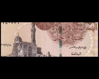Egypt, P-071b, 1 pound, 2017