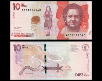 Colombia, P-460c, 10 000 pesos, 2017