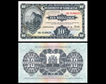 Gibraltar, P-41, 10 Shillings / 50 Pence, 1934 / 2018