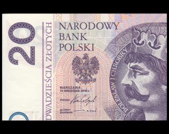 Poland, P-184b, 20 zlotych, 2016