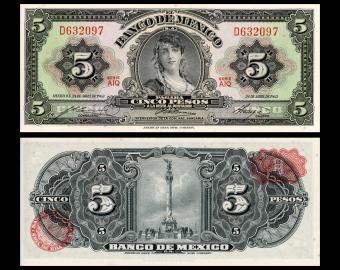 Mexico, P-60h2, 5 pesos, 1963