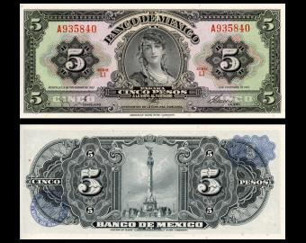 Mexico, P-60g, 5 pesos, 1961