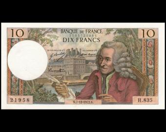 France, P-147d, 10 francs, 1973, SUP-ExFine