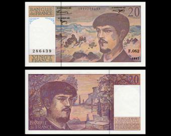 France, P-151i, 20 francs Debussy, 1997