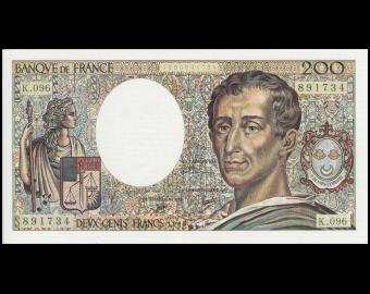 France, P-155d, 200 francs, 1990
