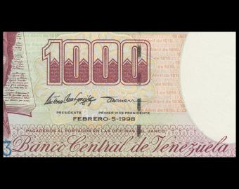 Venezuela, P-076c, 1 000 bolivares, 1998