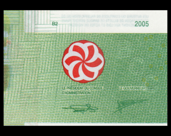 Comores, P-17c, 2 000 francs, 2005