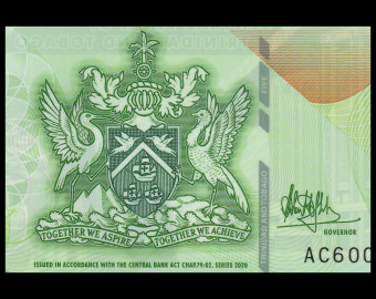 Trinidad & Tobago, P-61, 5 dollars, polymer, 2020