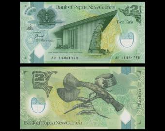 Papouasie Nouvelle Guinée, p-28d, 2 kina, Polymère, 2014