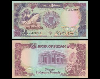 Sudan, P-47, 20 pounds, 1991