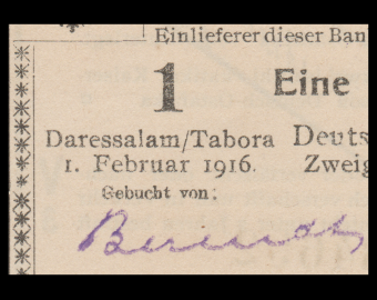 Germany, East Africa, P-20a19, 1 rupee, 1916