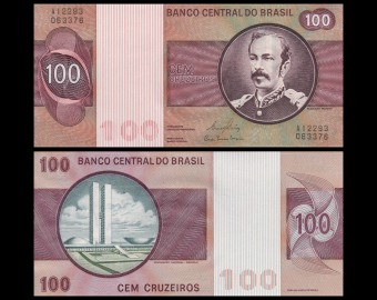 Brésil, P-195Ab, 100 cruzeiros, 1981