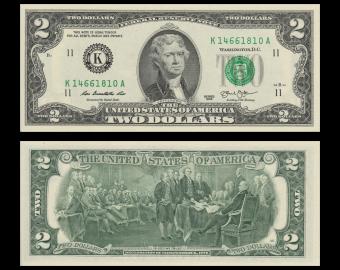 USA, P-538K, 2 dollars, Dallas, 2013