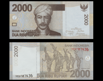 Indonesia, P-148c, 2.000 rupiah, 2011