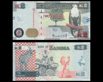 Zambia, P-56b, 2 kwacha, 2018