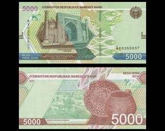 Uzbekistan, P-new, 05.000 som, 2021
