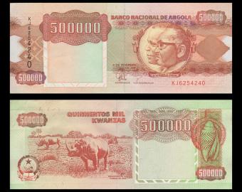 Angola, P-134, 500 000 kwanzas, 1991, PresqueNeuf / a-UNC