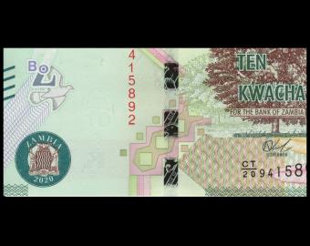 Zambia, P-58c, 10 kwacha, 2020