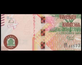 Zambia, P-59c, 20 kwacha, 2020