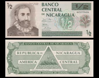 Nicaragua, P-171, 50 centavos, 1991