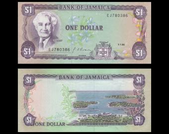 Jamaica, P-68Ad, 1 dollar, 1990