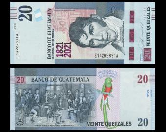 Guatemala, P-new, 20 quetzales, 2021