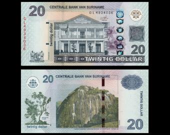 Suriname, P-164c, 20 dollars, 2019
