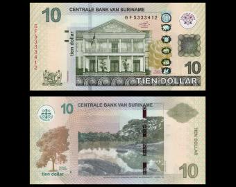 Suriname, P-163c, 10 dollars, 2019