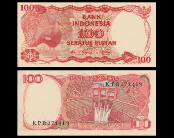 Indonesia, P-122, 100 rupiah, 1984