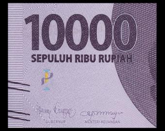 Indonesia, P-157f, 10 000 rupiah, 2021
