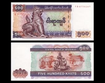 Myanmar, P-79, 500 kyats, 2004