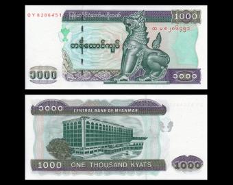 Myanmar, P-80, 1000 kyats, 2004