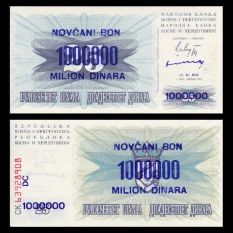 Bosnia and Herzegovina, p-35b, 1.000.000 dinara, 1993