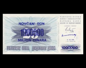 Bosnie-Herzégovine, P-35b, 1.000.000 dinara, 1993