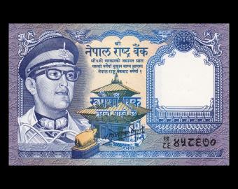 Nepal, p-22(4), 1 roupie, 1985-1990
