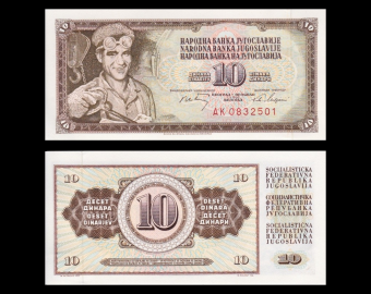 Yugoslavia, P-082c, 10 dinara, 1968