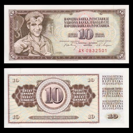 Yougoslavie, 10 dinara, 1968